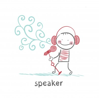 words.speaker-with-mic